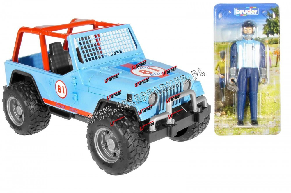 ZABAWKA 1:16 JEEP CROSS BLUE 02541 BRUDER